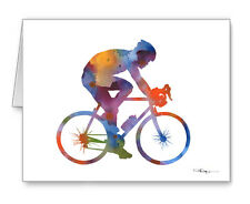CYCLING note cards by watercolor artist DJ Rogers