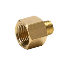 "Brass Adapter Reducer 1/2 inch Female  to 3/8"" Male NPT - Air Tool Hose Fittings"