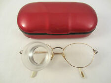 CARL ZEISS AUGAR FB31 FERNGLAS LUPE BRILLE cyl +2.0 FRANCE 22 Kt Ct GOLD OR ETUI