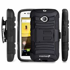 Fosmon Heavy Duty Shockproof Protective Holster Case for Motorola Moto E 2nd Gen