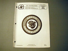 1973 Vintage Arctic Cat 8 HP Snowblower Parts Manual ('72 Printing)