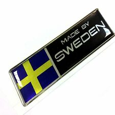 "MADE BY SWEDEN car sticker polyurethane resin metallic film  size 3.94""x1.18"""