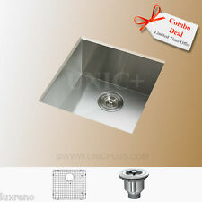 "Free Accessories 17"" Zero Radius SUS304 Stainless Steel Kitchen Bar Sink KUS1718"