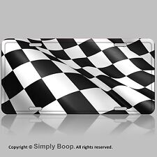 Checkered Racing Flag  Aluminum License Plate Tag