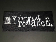 PUNK ROCK METAL MUSIC SEW/IRON ON PATCH:- MY CHEMICAL ROMANCE (b) LARGE STRIPE