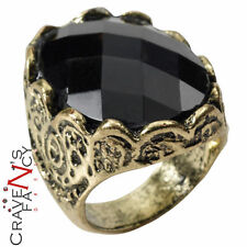 Pietra nera RING GAME OF THRONES Medievale Rinascimentale Costume Accessorio Nuovo