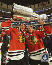 Patrick Kane Jonathan Toews 2015 Chicago Blackhawks Stanley Cup 8x10 Photo