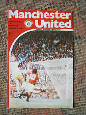 ORIGINAL PROGRAMME MAN UTD v MIDDLESBROUGH DIV 1  7.10.78  EX CONDITION