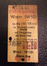 Fahrkarte Fahrschein Wien Pregarten Wels 1944