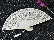 Lot 10 wooden Folding hand fan Wedding Shower party Favor