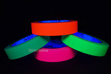 4 Pack 1 Inch UV Blacklight Reactive Fluorescent Gaffer Tape 4x 20 Yards