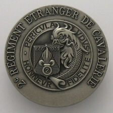 FRENCH FOREIGN LEGION ETRANGERE BADGE 2 REC - MAYOTTE - NUMBERED 2nd Cavalry FFL