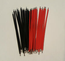 Mini Jumper Cables / wire - Red / Black 30 Pack - For Breadboards - Free P&P