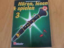 Hören, lesen & spielen Band 3 für Klarinette Oehler (deutsches System) mit CD
