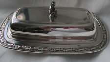 ONIEDA SILVERSMITHS, SILVER PLATED BUTTER DISH WITH LID.