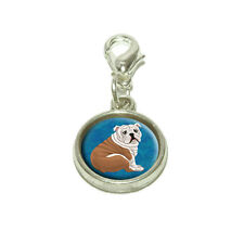 English Bulldog Dangling Bracelet Pendant Charm