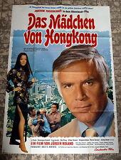 MÄDCHEN VON HONG KONG * Joachim Fuchsberger -A0-Filmposter XXL -Ger 2-Sheet 1973