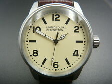 NEW OLD STOCK UNITED COLORS OF BENETTON REF 7451210015 QUARTZ MEN WATCH