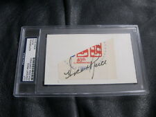 Vincent Price Autographed Postcard PSA Encapsulted Authenticated