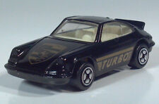 "Corgi Porsche Carrera Turbo 3"" Die Cast Scale Model Black White Interior"