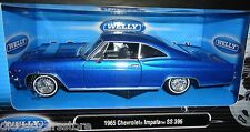 WELLY 1965 CHEVROLET IMPALA SS 396  BLUE 1/24 DIECAST MODEL CAR   22417