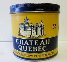 Vintage 55 CENT CHATEAU QUEBEC PIPE TOBACCO TIN Can CANADA