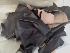 SPECIAL OFFER OFFCUTS  LEATHER PIECES  Dark Brown 2 Kilos