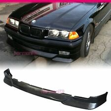 Fit For 92-98 BMW E36 3-SERIES BLACK PU FRONT BUMPER LIP SPOILER JDM STYLE