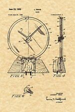 Patent Print - Jefferson Golden Hour Clock 1949 - Ready To Be Framed!