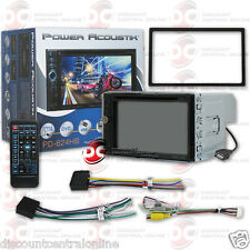 """POWER ACOUSTIK PD-624HB 2DIN 6.2"""" TOUCHCREEN DVD BLUETOOTH STEREO W/ USB AUX"""
