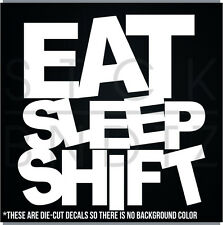EAT SLEEP SHIRT REPEAT JDM FUNNY DECAL STICKER MACBOOK CAR WINDOW MOTORCYCLE