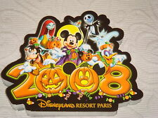Carte Postale Disney Halloween 2008 parc Disneyland Paris NEUVE