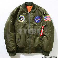 New Fashion US NASA MA1 Flight Bomber Jacket Baseball Coat Thin Coat Jacket
