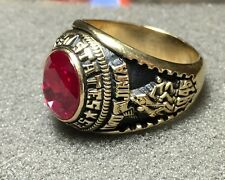 Jostens U.S. Marine Corps Men's Ring with Stone, Size 11