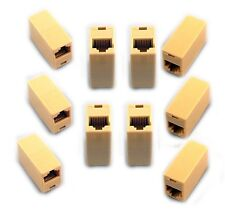 10 Pcs RJ45 Cat5e Coupler Connector For Extension Broadband Network Cable