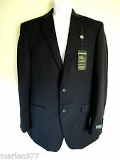 LAUREN Ralph Lauren Ultraflex Wool Navy Suit Jacket Blazer 40 Long New $400