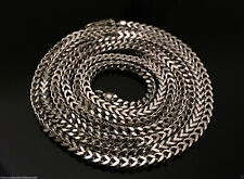 "Italian Mens Women 14k White Gold Necklace Franco Rope Chain 2.5mm 24"" 24 inch"