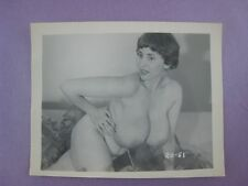 ORIGINAL 1950S 5X4 PINUP PHOTO..NUDE,RISQUE ' BUSTY BEAUTY '  # 40B..LINDA WEST
