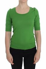 NWT $700 DOLCE & GABBANA Green Cashmere Crew-neck Pullover Sweater IT36 /US2/XS