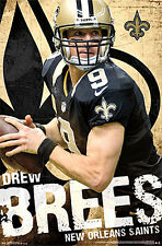 Drew Brees FIELD GENERAL New Orleans Saints NFL Football Official WALL POSTER
