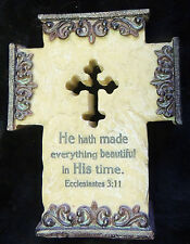 Christian Cross Shelf Decor Ecclesiates 3:11 He Hath Made Everything Beautiful