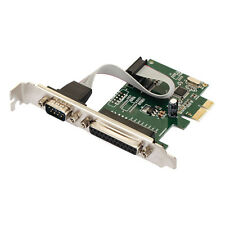 PCI-E PCI Express Serial COM DB9 RS-232 + DB25 Printer LPT Port Adapter