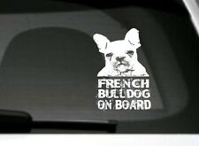 French Bulldog On Board, Car Sticker, High Detail, Great Gift For Dog Lover