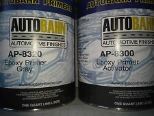 Epoxy Primer / Sealer and Catalyst Gray 2 Quart Kit Direct to Metal Car Auto Kit