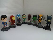 MARVEL AVENGERS CAKE TOPPERS 8 PLASTIC FIGURES  BRAND NEW FREE P+P