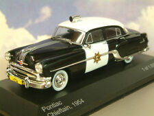 WHITEBOX 1/43 1954 PONTIAC CHIEFTAIN POLICE CAR CALIFORNIA HIGHWAY PATROL WB189