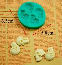 3D Skull Head DIY Silicone Fondant Mould Cake Decorating Chocolate Mold