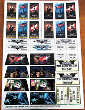 CUSTOM BATMAN CINEMA STICKER SET for Lego 10232 10184 - THE DARK KNIGHT TRILOGY