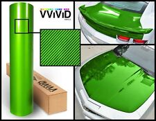 Green carbon hi gloss tech art (not printed) 3ft x 5ft laminated vinyl car wrap