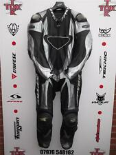 Spyke Titanium Rare old stock One Piece race suit with hump uk46 euro56